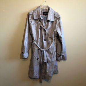 London Fog Trench Coat Double Breasted Belt Hood
